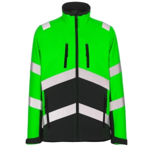 High durability work jacket with reflective strips